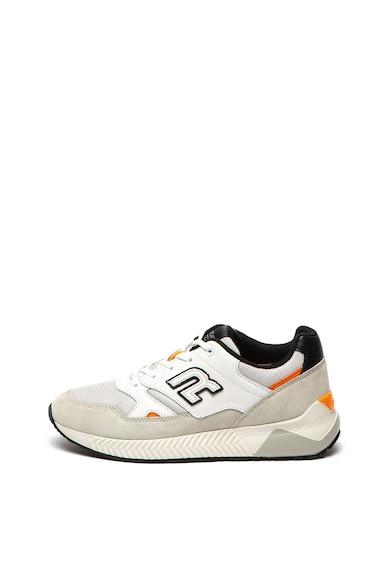 Replay Pantofi sport de piele si material textil Hawthorn Barbati