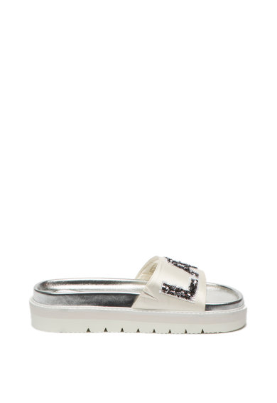 Replay Papuci wedge din satin, cu paiete Sioux Femei