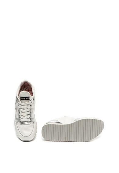 Replay Pantofi sport cu garnituri de piele cu aspect metalizat Whiteshell Femei