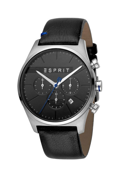 Esprit Ceas cronograf cu o curea de piele Barbati