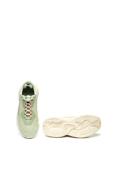 Puma Pantofi sport din material textil si piele intoarsa Thunder Dessert Femei