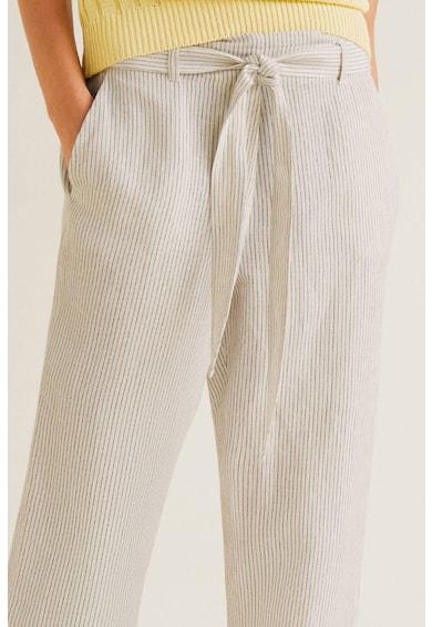 Mango Paper csíkos lentartalmú nadrág női