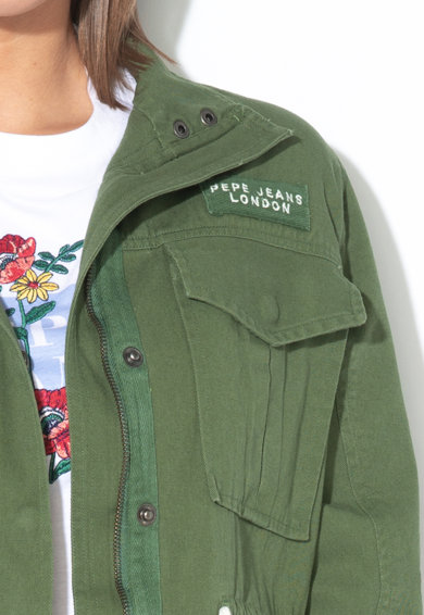 Pepe Jeans London Парка Adai с флорални бродерии Жени