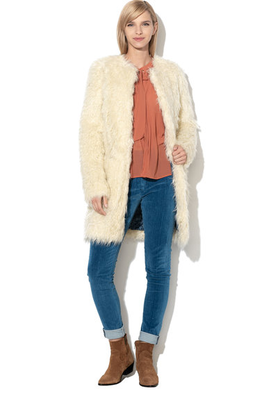 Pepe Jeans London Haina de blana shearling sintetica Lisa Femei