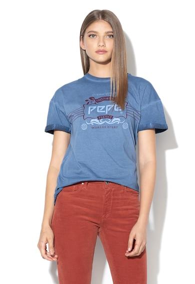 Pepe Jeans London Tricou cu imprimeu logo Magic Femei