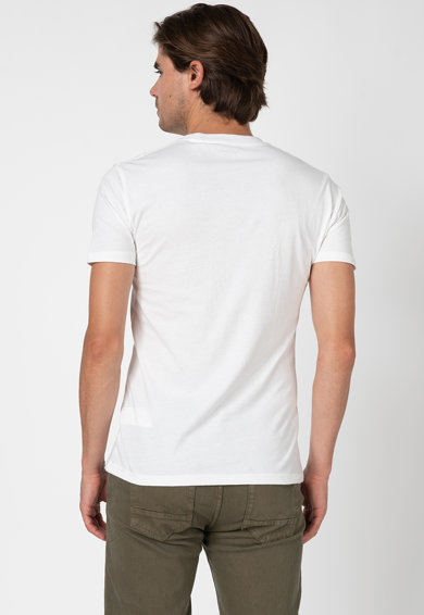 Pepe Jeans London Szűk fazonú mintás póló férfi