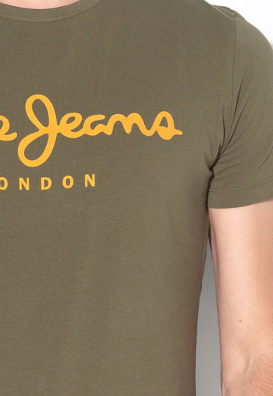 Pepe Jeans London Tricou slim fit cu imprimeu logo Original Barbati