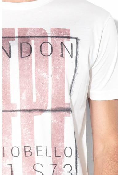 Pepe Jeans London Tricou lejer cu imprimeu logo si decolteu la baza gatului Jacson Barbati