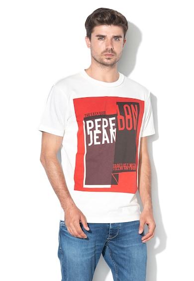 Pepe Jeans London Tricou lejer cu imprimeu logo Addison Barbati