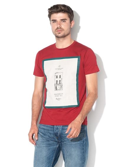 Pepe Jeans London Tricou slim fit cu model grafic Baxter Barbati
