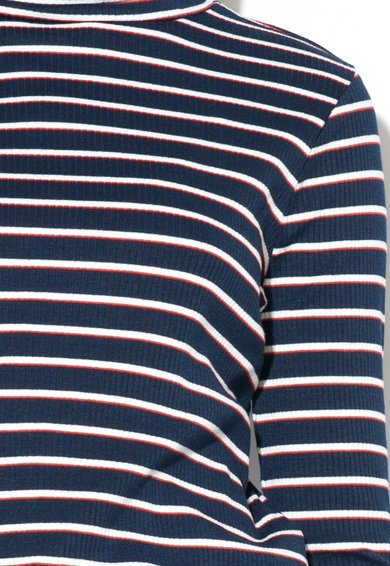 Pepe Jeans London Bluza in dungi cu guler inalt Mulan Femei