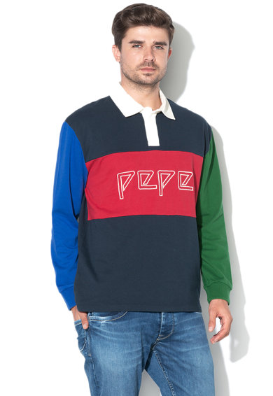 Pepe Jeans London Bluza cu logo brodat Plakem Barbati