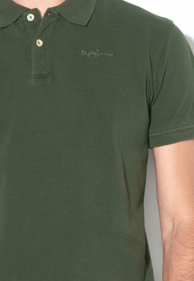 Pepe Jeans London Tricou polo slim fit din material pique Vincent Barbati