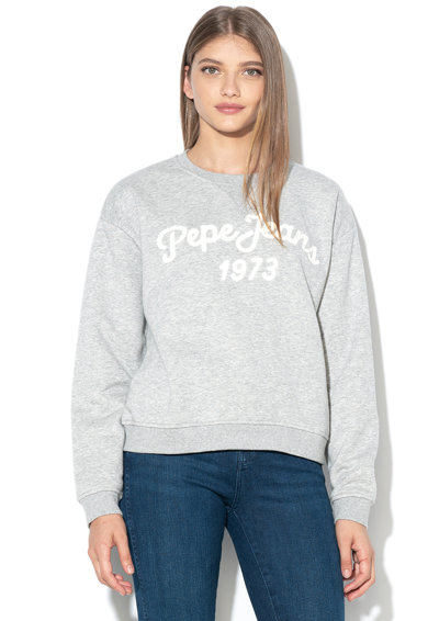 Pepe Jeans London Bluza sport cu aplicatie logo Nanete Femei