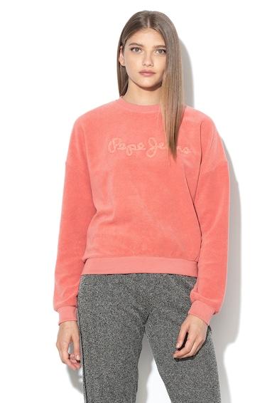 Pepe Jeans London Bluza sport din material terry cu aplicatie logo Noelia Femei