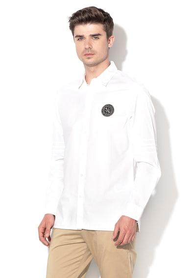 GUESS JEANS Szűk ing logóval férfi