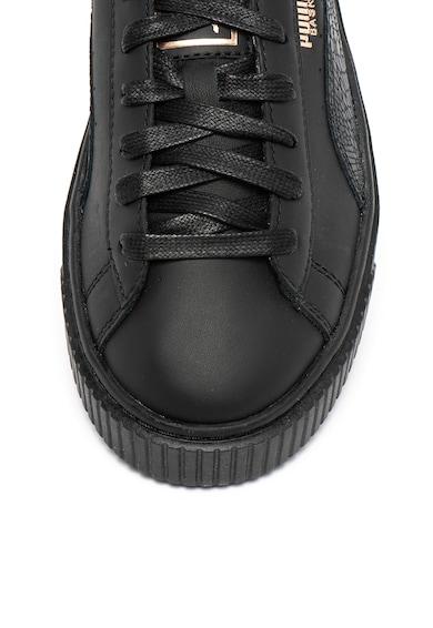 Puma Pantofi sport flatform de piele Bastket Euphoria Femei