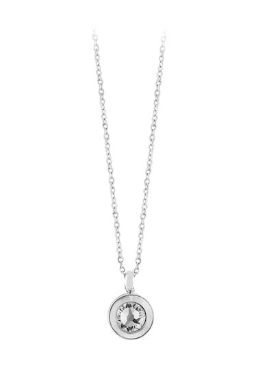 OXETTE Rozsdamentes acél nyaklánc cirkóniamedállal női