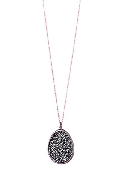 OXETTE Colier de argint placat cu aur rose de 18K, cu pandantiv cu cristale Swarovski Femei