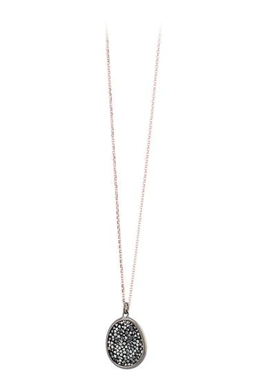 OXETTE 18 karátos vörösarannyal bevont ezüst nyaklánc Swarovski medállal női