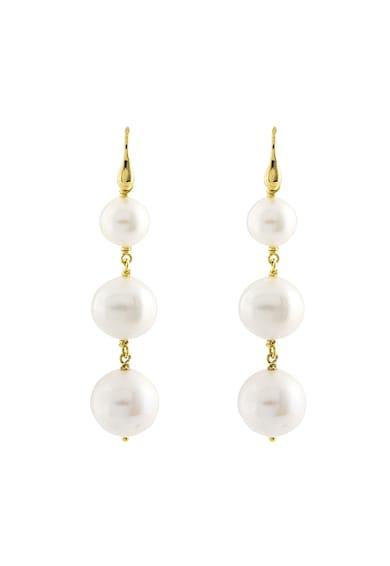 OXETTE Cercei de argint placati cu aur de 18k si decorati cu perle Femei