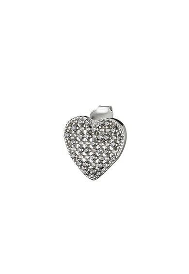 OXETTE Cercei cu clips, in forma de inima, decorati cu cristale zirconia Femei