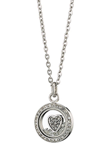 Loisir by Oxette Nyaklánc szív alakú részlettel és cirkóniával női