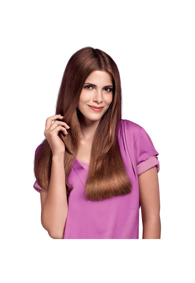 Philips Преса за коса  Essential Care HP8323/00, Керамични плочи, Загряване 60 секунди, Плочи 100мм, 210 градуса, Черна Жени