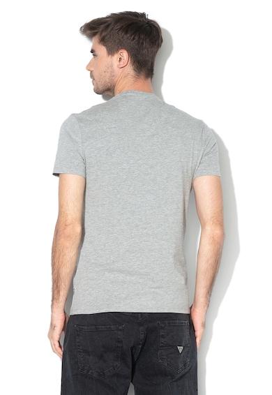 GUESS JEANS Tricou super slim cu imprimeu logo texturat Barbati