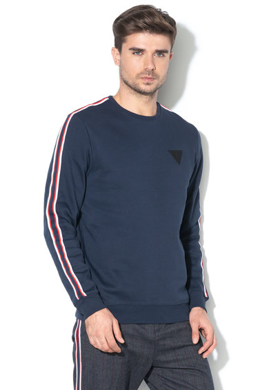 GUESS JEANS Normál fazonú pulóver logóval férfi