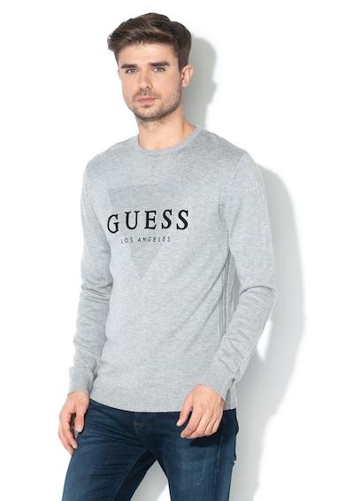 GUESS JEANS Finomkötött gyapjútartalmú pulóver férfi
