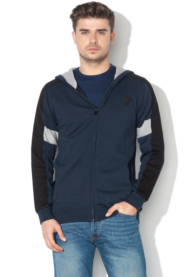 GUESS JEANS Hanorac din tricot fin cu design colorblock Barbati