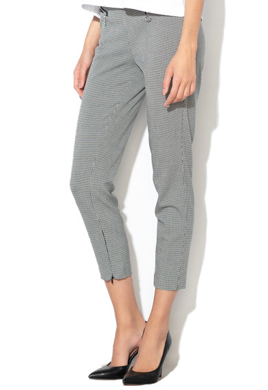 GUESS JEANS Lefelé szűkülő tyúklábmintás nadrág női