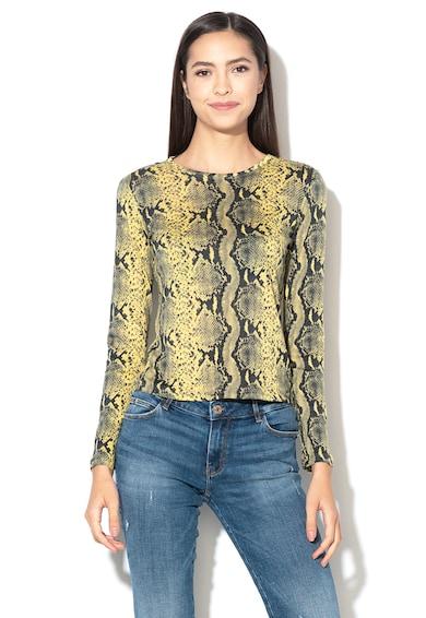 GUESS JEANS Bluza din amestec de modal, cu model piele de reptila Femei