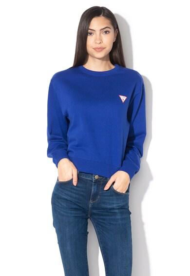 GUESS JEANS Bluza sport cu imprimeu logo discret si captuseala din material fleece Femei
