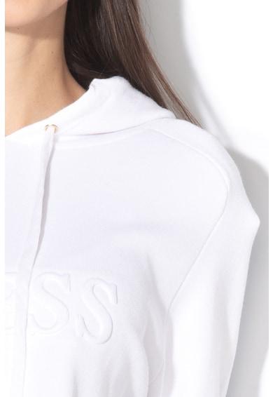 GUESS JEANS Hanorac din tricot fin cu logo in relief Femei