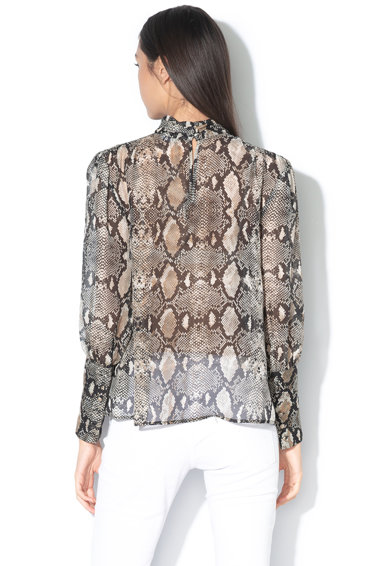 GUESS BY MARCIANO Bluza de matase, transparenta, cu model piele de reptila Femei