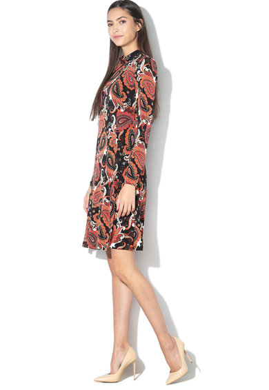 GUESS BY MARCIANO Rochie cu model paisley, croiala in A si maneci lungi Femei