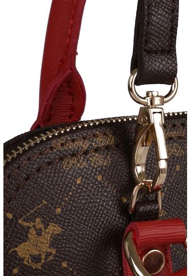 Beverly Hills Polo Club Geanta crossbody de piele ecologica cu imprimeu logo Femei