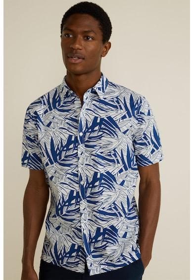 Mango Camasa regular fit cu model tropical Garay Barbati