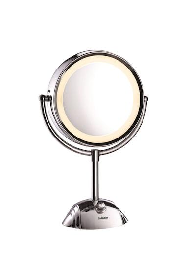 BaByliss Oglinda cosmetica iluminata  , Led, 20.5 cm, 2 suprafete de oglinda, Baterii, Alb Femei