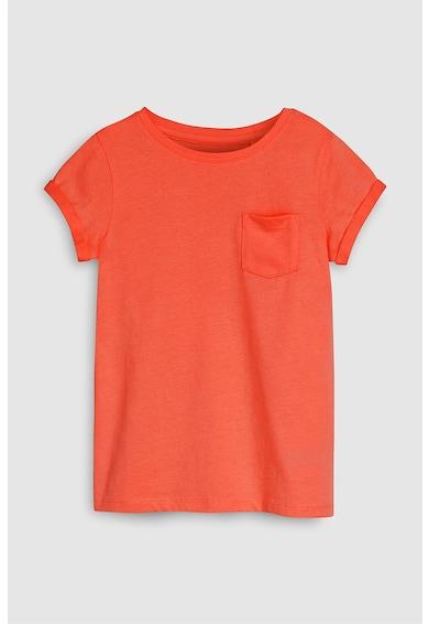 NEXT Egyszínű póló zsebbel a mellrészen Lány