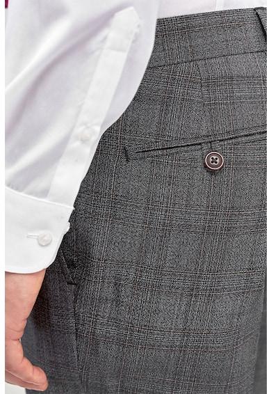 NEXT Pantaloni slim fit in carouri, din amestec de lana Barbati