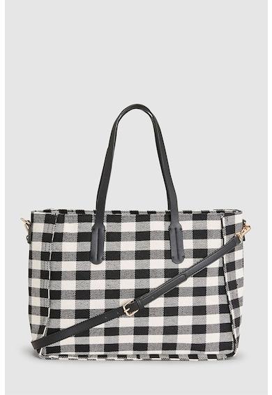 NEXT Kockás shopper fazonú táska levehető pánttal női