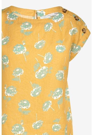 NEXT Bluza de in, cu model floral Femei
