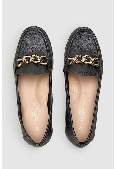 NEXT Pantofi loafer de piele cu detaliu din lant Femei