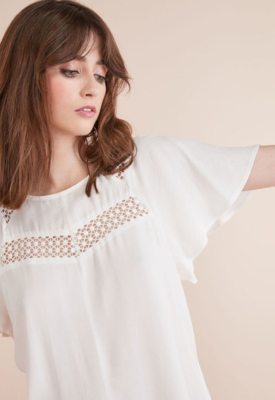 NEXT Bluza cu insertii de dantela Femei