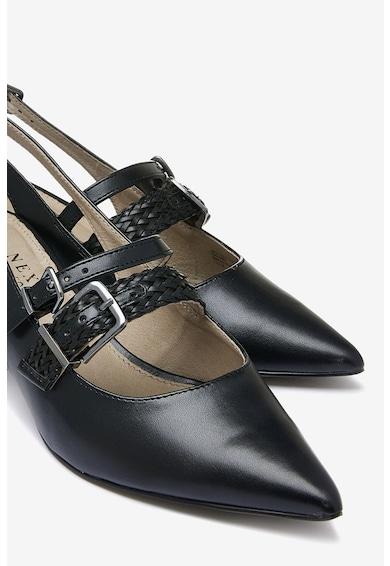 NEXT Pantofi slingback cu toc kitten si barete decorative Femei