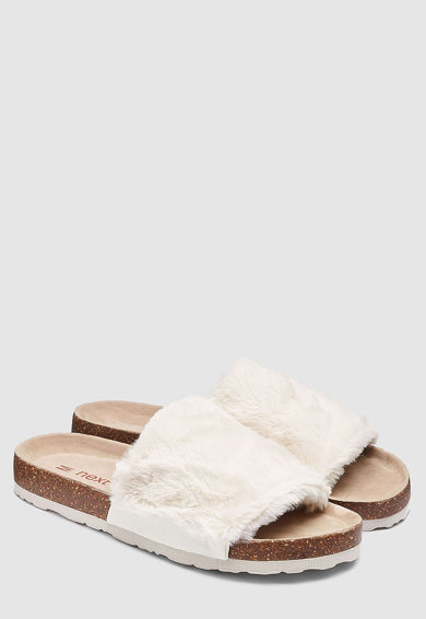 NEXT Papuci cu blana sintetica Femei