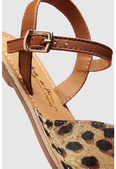 NEXT Sandale de piele cu varf decupat Fete